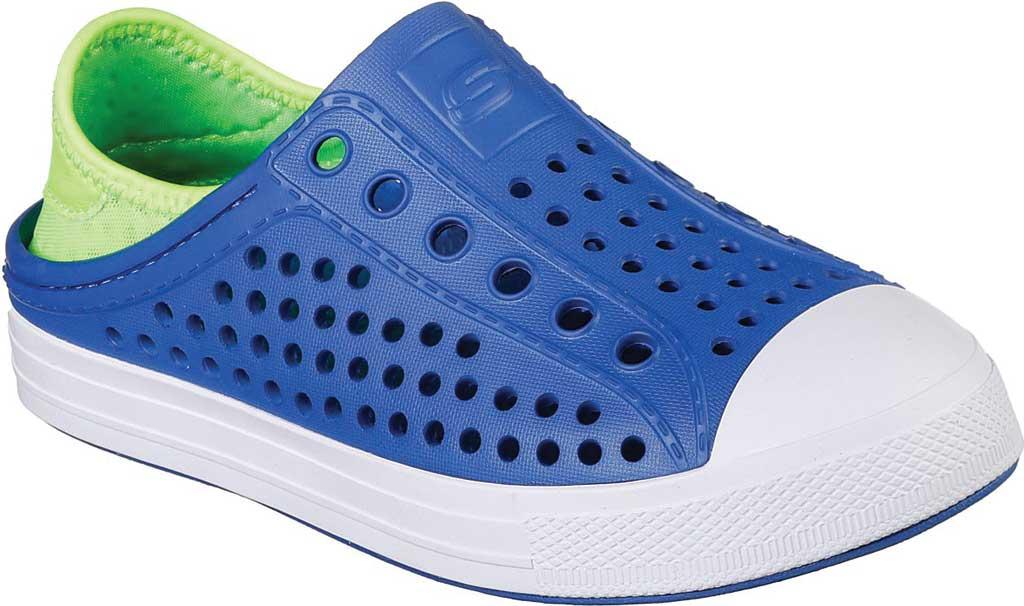 Boys' Skechers Guzman Steps Aqua Surge Slip-On Shoe, Blue/Lime, large, image 1