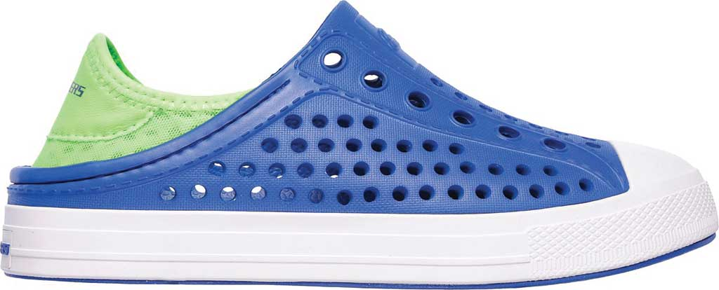 Boys' Skechers Guzman Steps Aqua Surge Slip-On Shoe, Blue/Lime, large, image 2