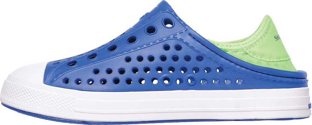Boys' Skechers Guzman Steps Aqua Surge Slip-On Shoe, Blue/Lime, large, image 3