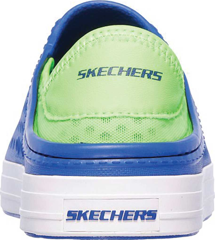Boys' Skechers Guzman Steps Aqua Surge Slip-On Shoe, Blue/Lime, large, image 4