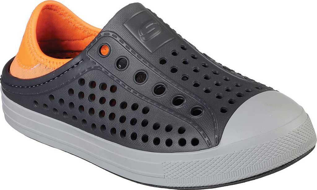 Boys' Skechers Guzman Steps Aqua Surge Slip-On Shoe, Charcoal/Orange, large, image 1