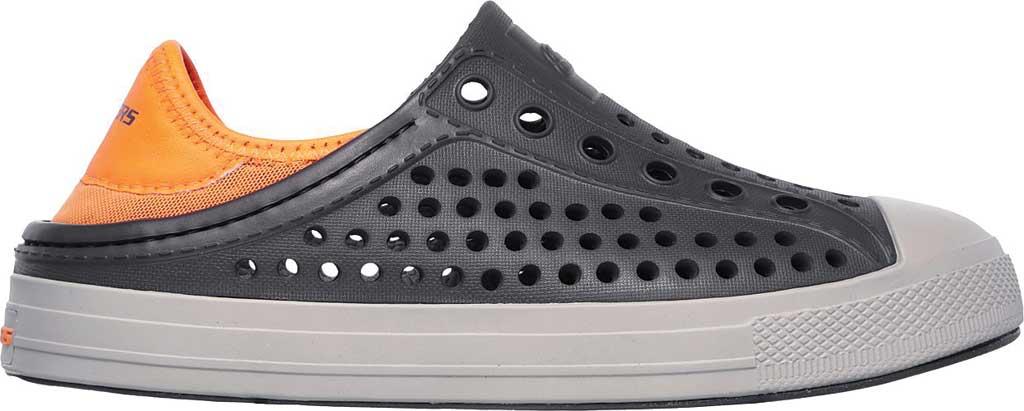 Boys' Skechers Guzman Steps Aqua Surge Slip-On Shoe, Charcoal/Orange, large, image 2