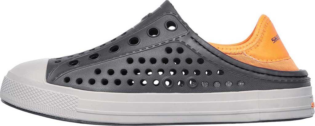 Boys' Skechers Guzman Steps Aqua Surge Slip-On Shoe, Charcoal/Orange, large, image 3