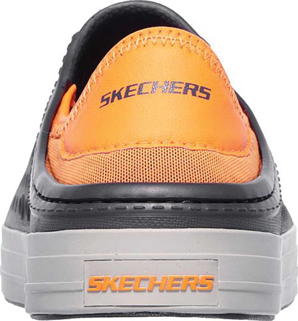 Boys' Skechers Guzman Steps Aqua Surge Slip-On Shoe, Charcoal/Orange, large, image 4