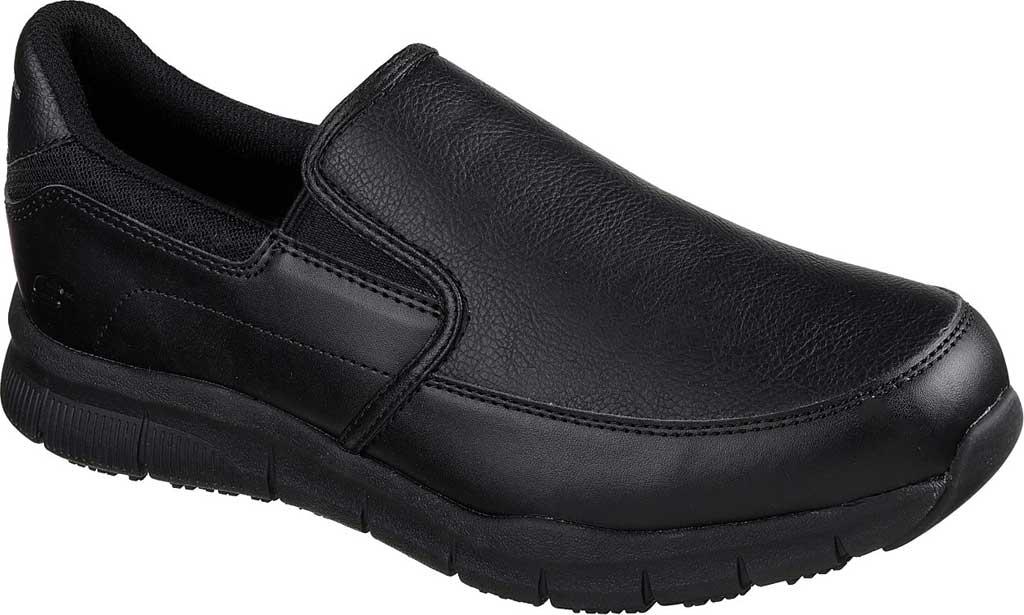 Men's Skechers Work Relaxed Fit Nampa Groton Slip Resistant Shoe, Black, large, image 1