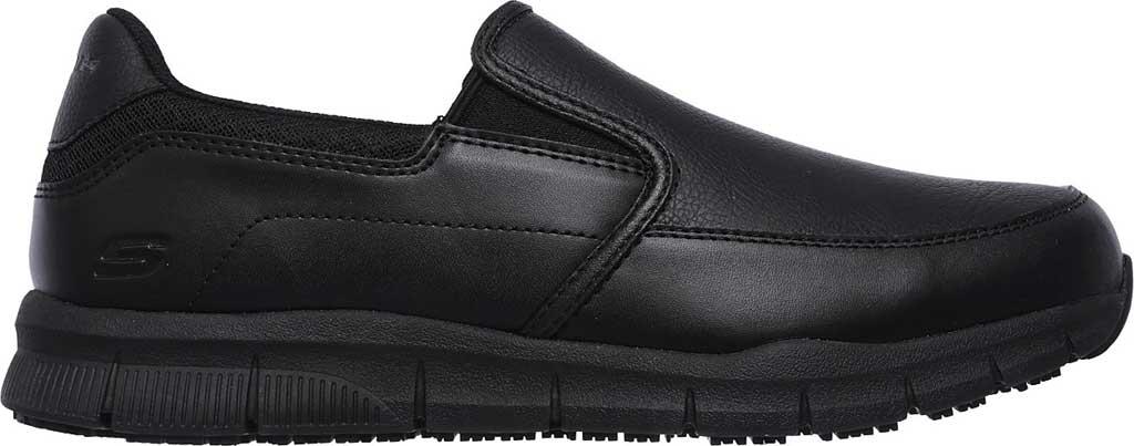 Men's Skechers Work Relaxed Fit Nampa Groton Slip Resistant Shoe, Black, large, image 2