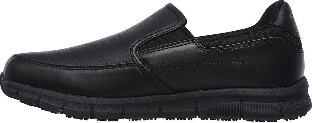 Men's Skechers Work Relaxed Fit Nampa Groton Slip Resistant Shoe, Black, large, image 3