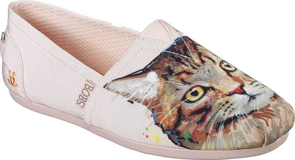 Women's Skechers BOBS Plush Cats Rule Alpargata, Light Pink, large, image 1