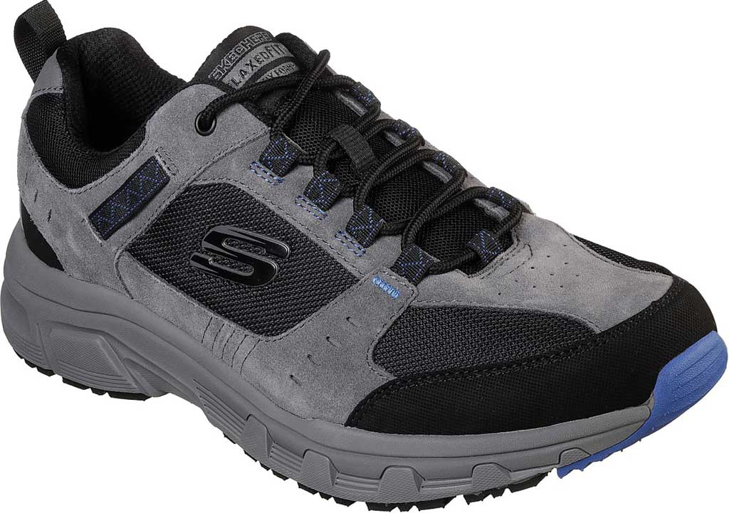 Men's Skechers Relaxed Fit Oak Canyon Sneaker, Charcoal/Black, large, image 1