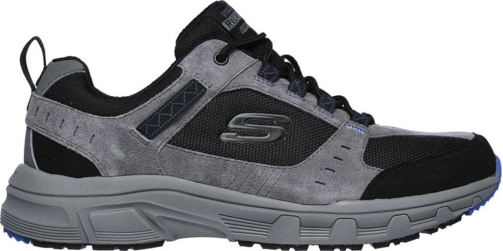 Men's Skechers Relaxed Fit Oak Canyon Sneaker, Charcoal/Black, large, image 2