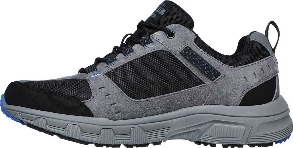 Men's Skechers Relaxed Fit Oak Canyon Sneaker, Charcoal/Black, large, image 3