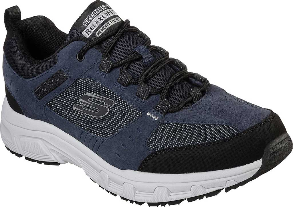 Men's Skechers Relaxed Fit Oak Canyon Sneaker, Navy/Black, large, image 1