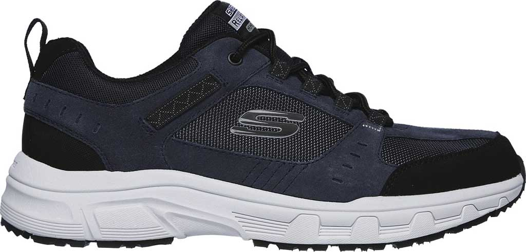 Men's Skechers Relaxed Fit Oak Canyon Sneaker, Navy/Black, large, image 2