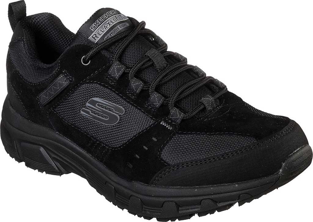 Men's Skechers Relaxed Fit Oak Canyon Sneaker, Black/Black, large, image 1