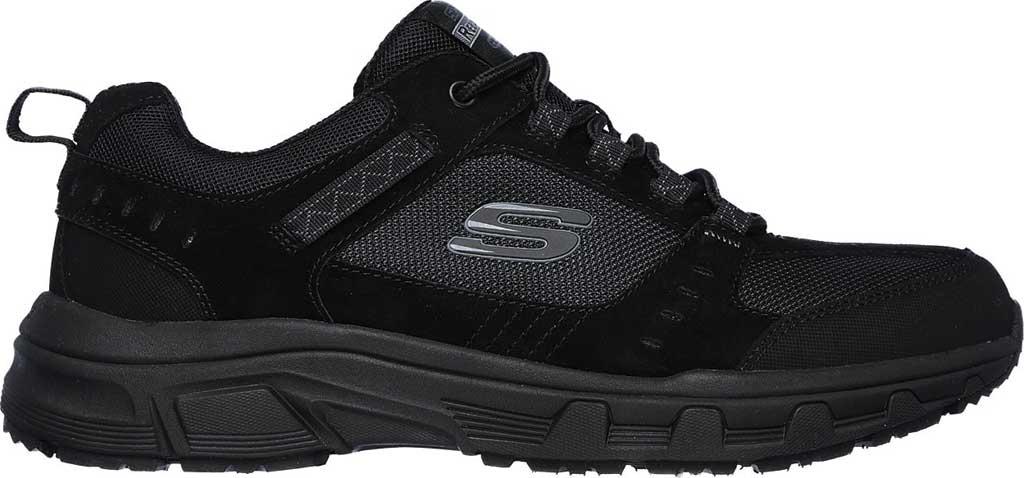 Men's Skechers Relaxed Fit Oak Canyon Sneaker, Black/Black, large, image 2