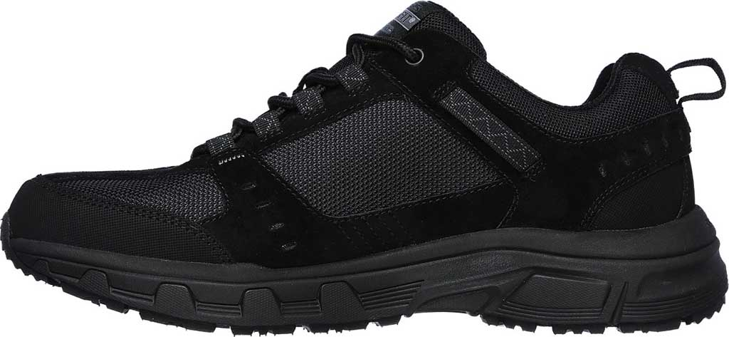 Men's Skechers Relaxed Fit Oak Canyon Sneaker, Black/Black, large, image 3
