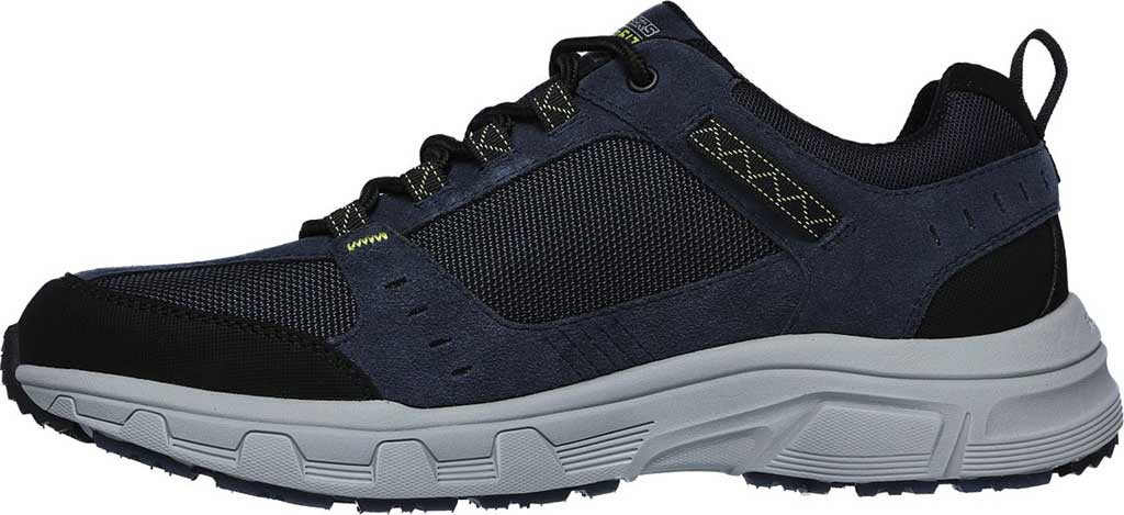 Men's Skechers Relaxed Fit Oak Canyon Sneaker, Navy/Lime, large, image 3