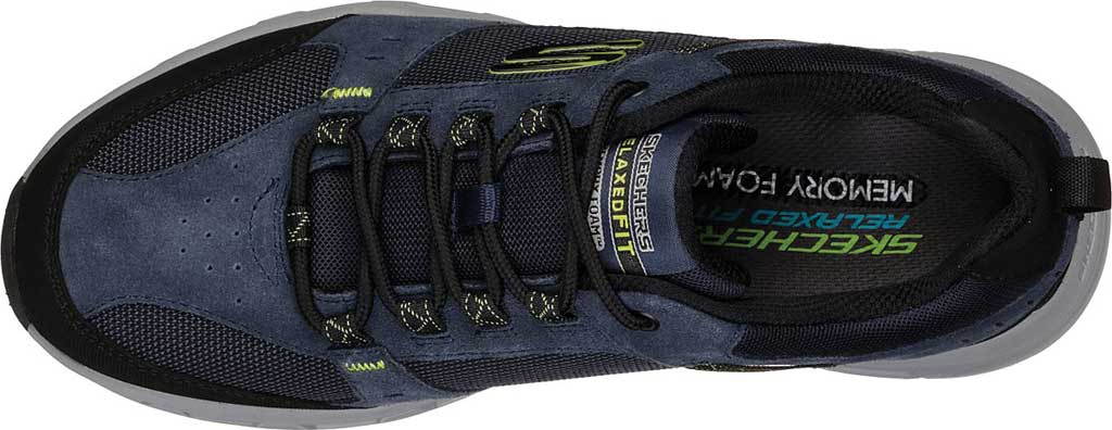 Men's Skechers Relaxed Fit Oak Canyon Sneaker, Navy/Lime, large, image 5