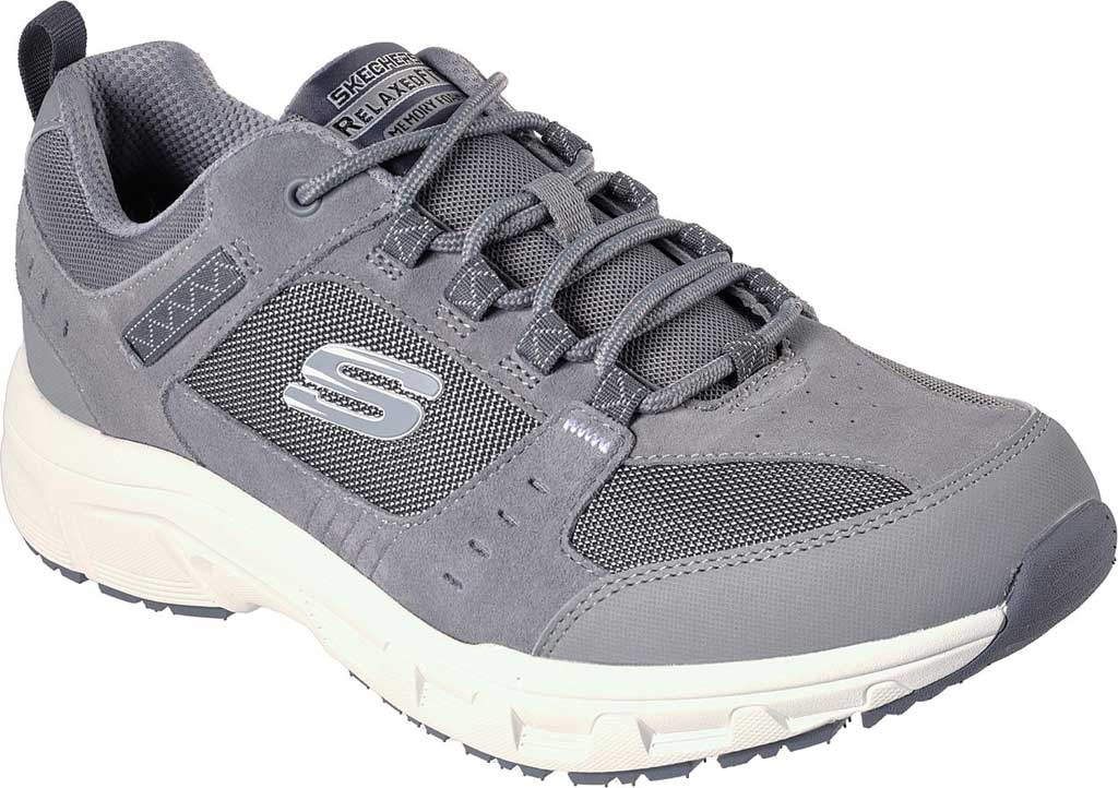 Men's Skechers Relaxed Fit Oak Canyon Sneaker, Gray/White, large, image 1