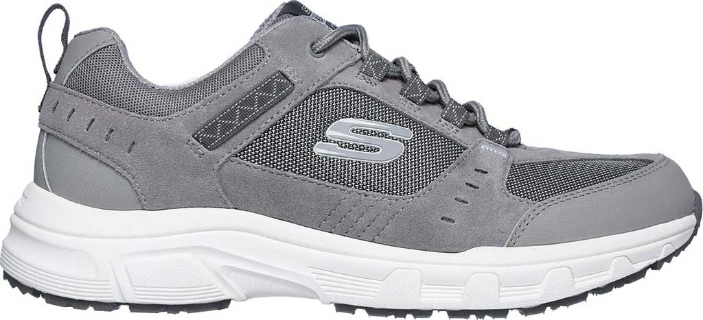 Men's Skechers Relaxed Fit Oak Canyon Sneaker, Gray/White, large, image 2