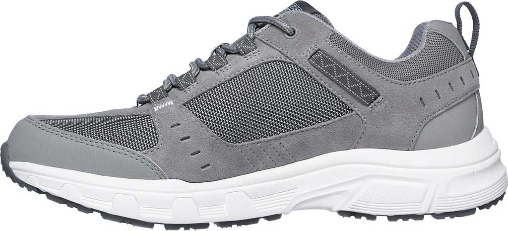 Men's Skechers Relaxed Fit Oak Canyon Sneaker, Gray/White, large, image 3