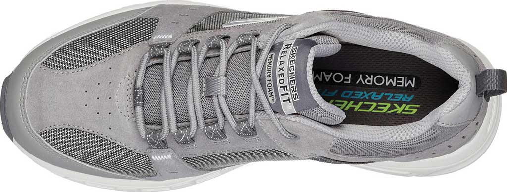Men's Skechers Relaxed Fit Oak Canyon Sneaker, Gray/White, large, image 5