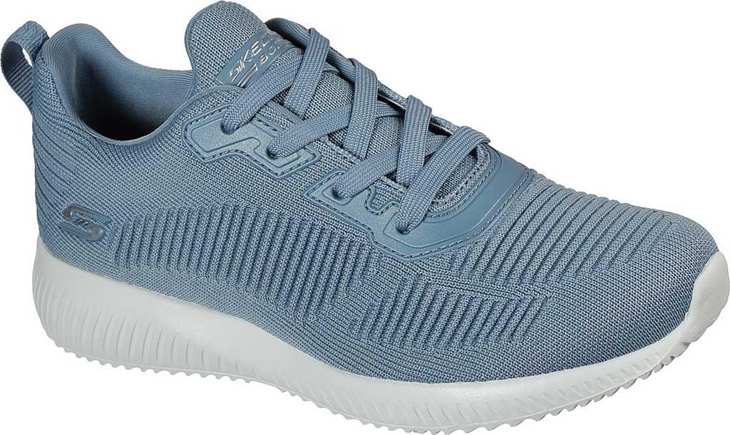 Women's Skechers BOBS Sport Squad Tough Talk Sneaker, Light Blue, large, image 1