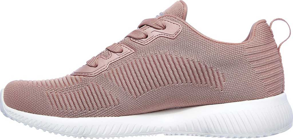 Women's Skechers BOBS Sport Squad Tough Talk Sneaker, Blush Pink, large, image 3
