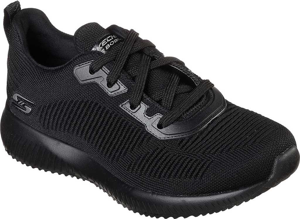 Women's Skechers BOBS Sport Squad Tough Talk Sneaker, Black/Black, large, image 1