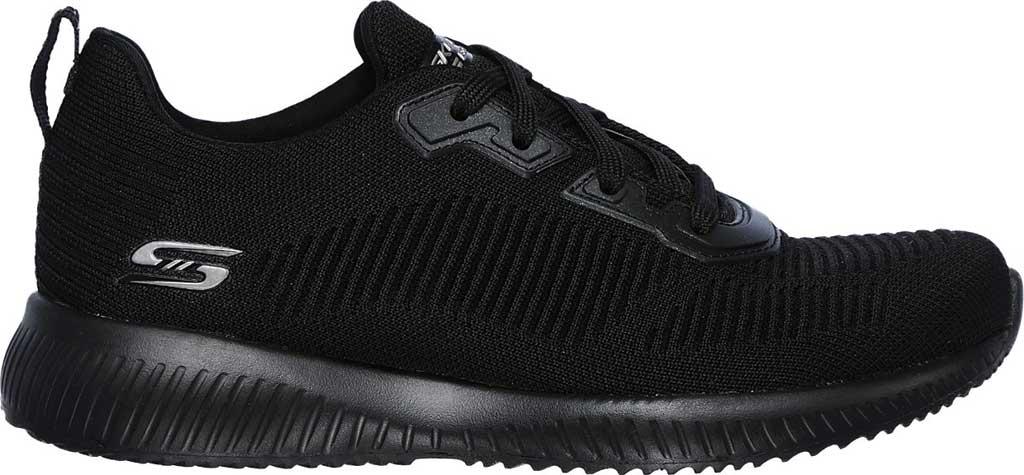 Women's Skechers BOBS Sport Squad Tough Talk Sneaker, Black/Black, large, image 2