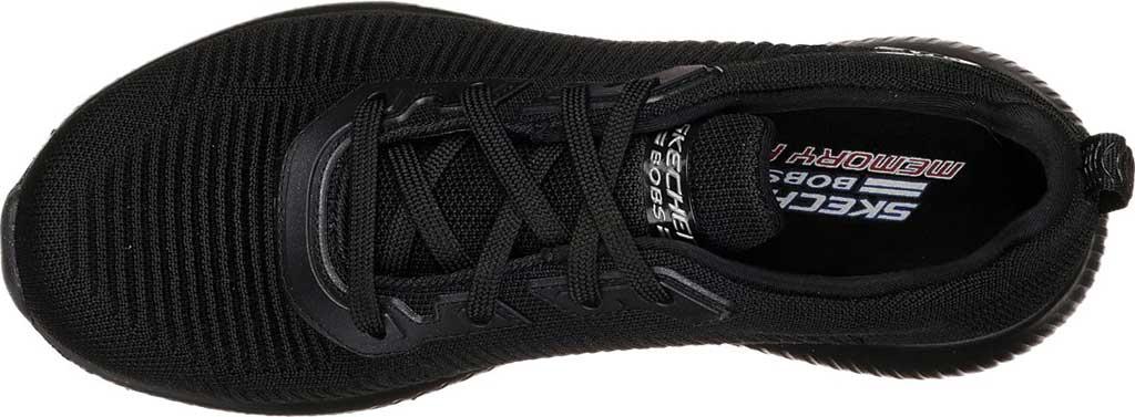 Women's Skechers BOBS Sport Squad Tough Talk Sneaker, Black/Black, large, image 4