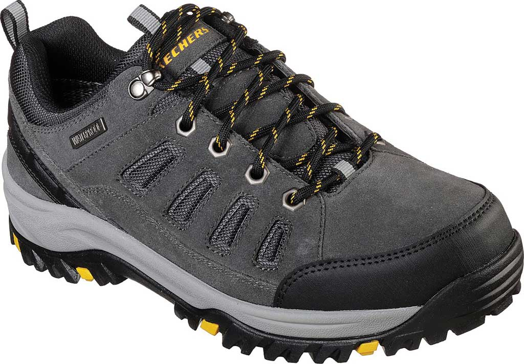 Men's Skechers Relaxed Fit Relment Sonego Hiking Shoe, Gray, large, image 1