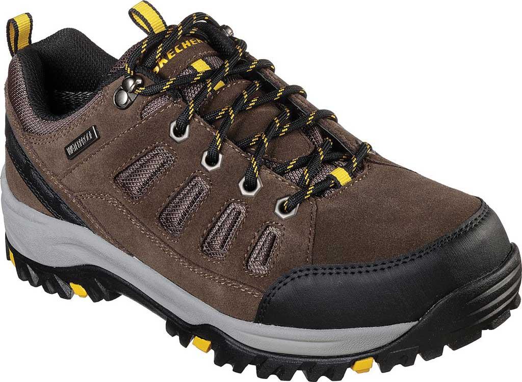 Men's Skechers Relaxed Fit Relment Sonego Hiking Shoe, Khaki, large, image 1