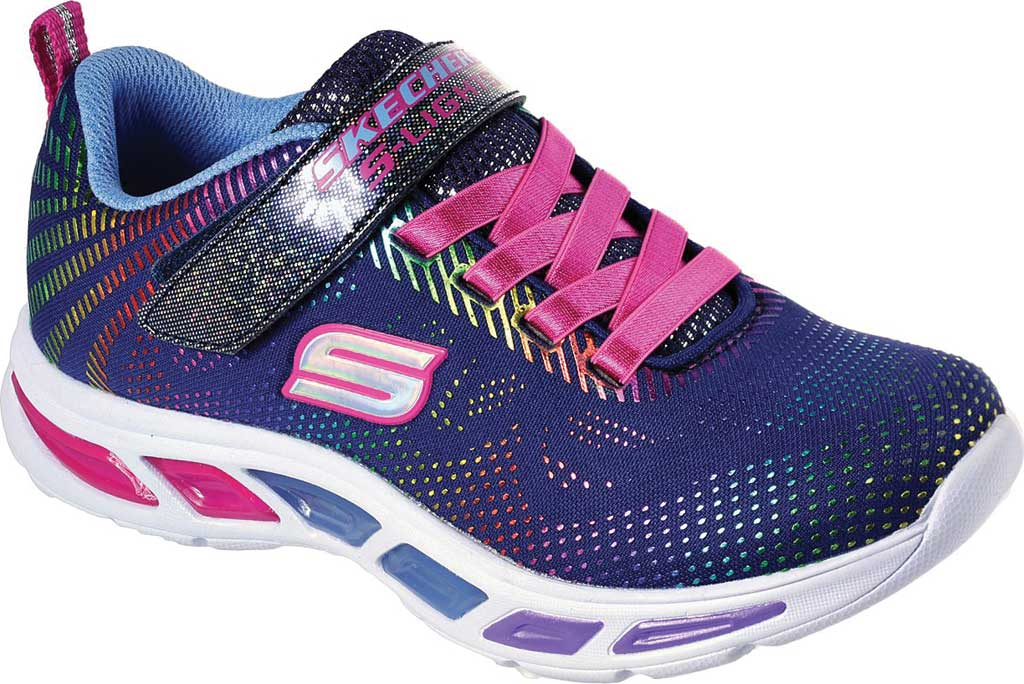Girls' Skechers S Lights Litebeams Gleam N' Dream Sneaker, Navy/Multi, large, image 1