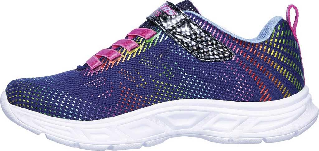 Girls' Skechers S Lights Litebeams Gleam N' Dream Sneaker, Navy/Multi, large, image 3
