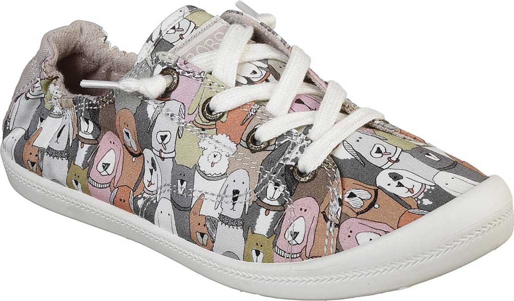Women's Skechers BOBS Beach Bingo Dog House Party Sneaker, Taupe/Multi, large, image 1