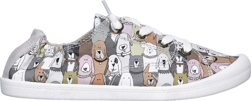 Women's Skechers BOBS Beach Bingo Dog House Party Sneaker, Taupe/Multi, large, image 2