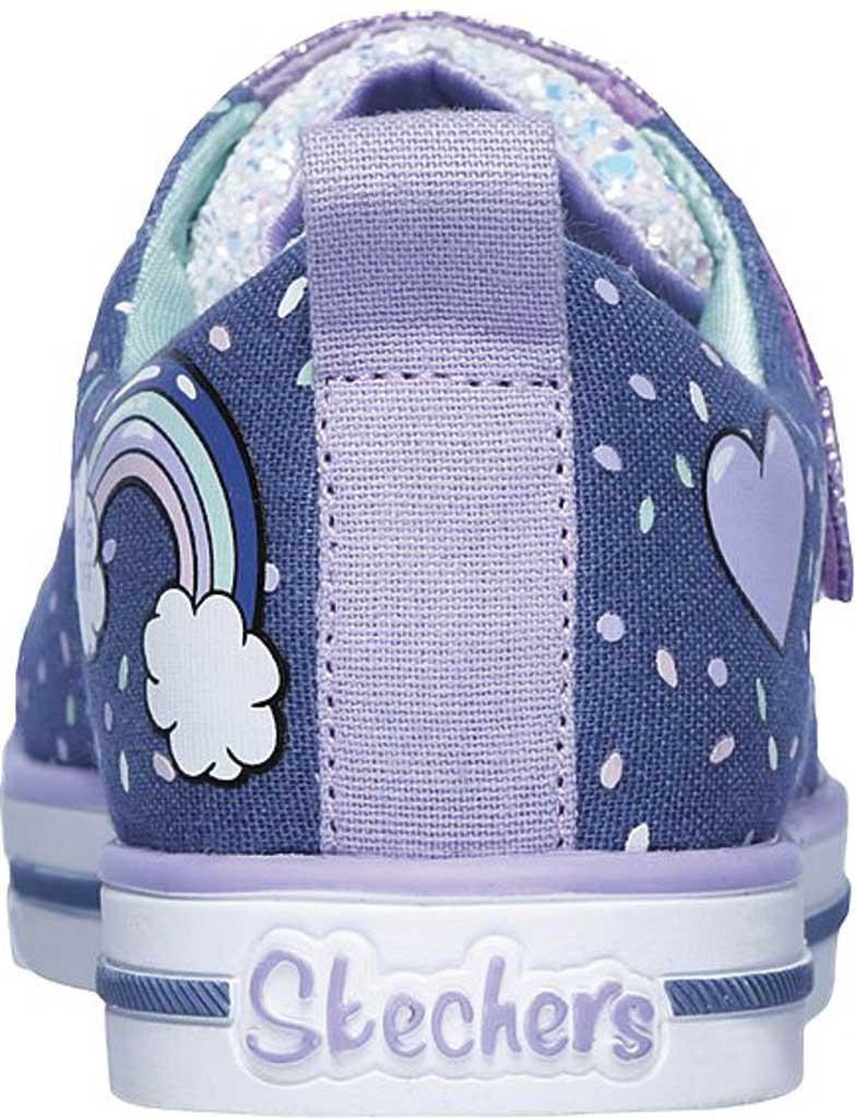 Girls' Skechers Twinkle Toes Shuffles Sparkle Lite Sneaker, Purple/Multi, large, image 4