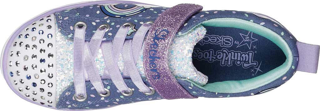 Girls' Skechers Twinkle Toes Shuffles Sparkle Lite Sneaker, Neon Pink/Multi, large, image 5