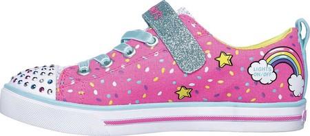 Girls' Skechers Twinkle Toes Shuffles Sparkle Lite Sneaker, Neon Pink/Multi, large, image 3