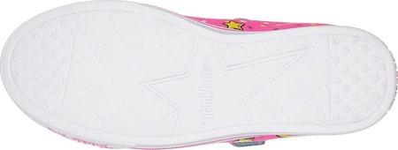 Girls' Skechers Twinkle Toes Shuffles Sparkle Lite Sneaker, Neon Pink/Multi, large, image 4