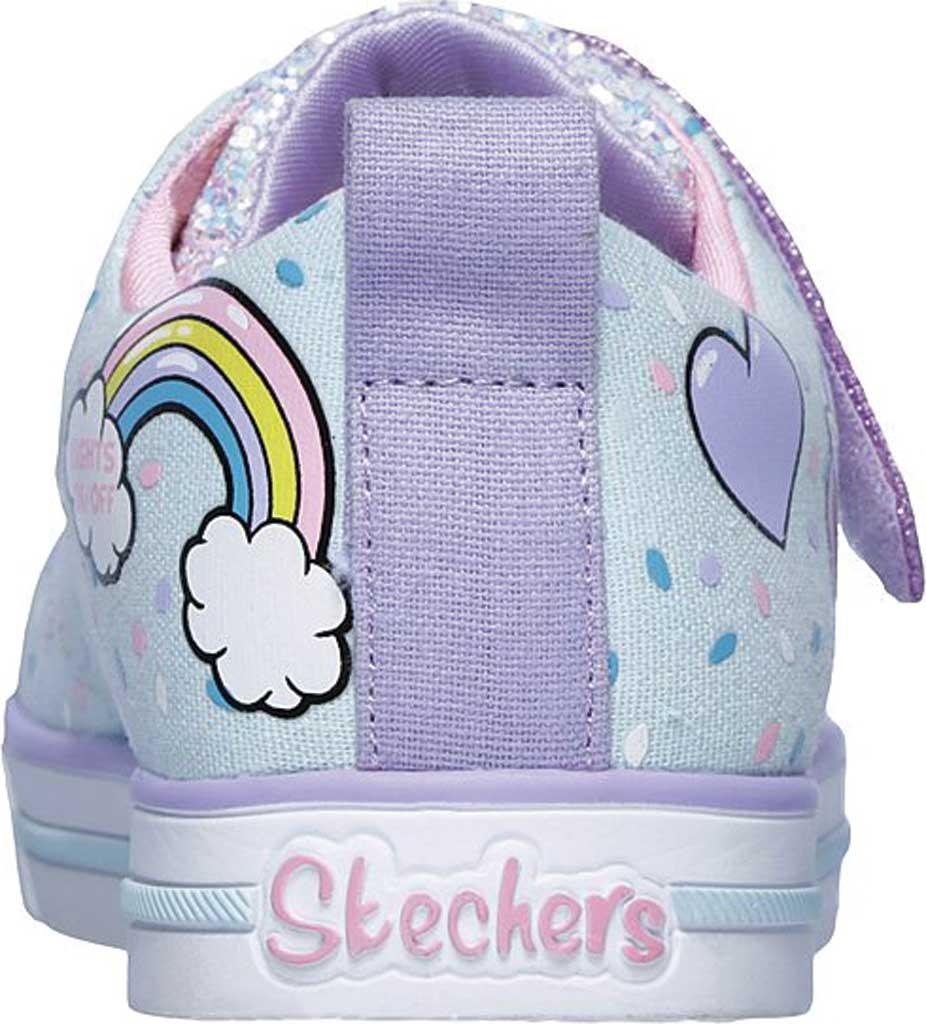 Girls' Skechers Twinkle Toes Shuffles Sparkle Lite Sneaker, Light Blue/Multi, large, image 4