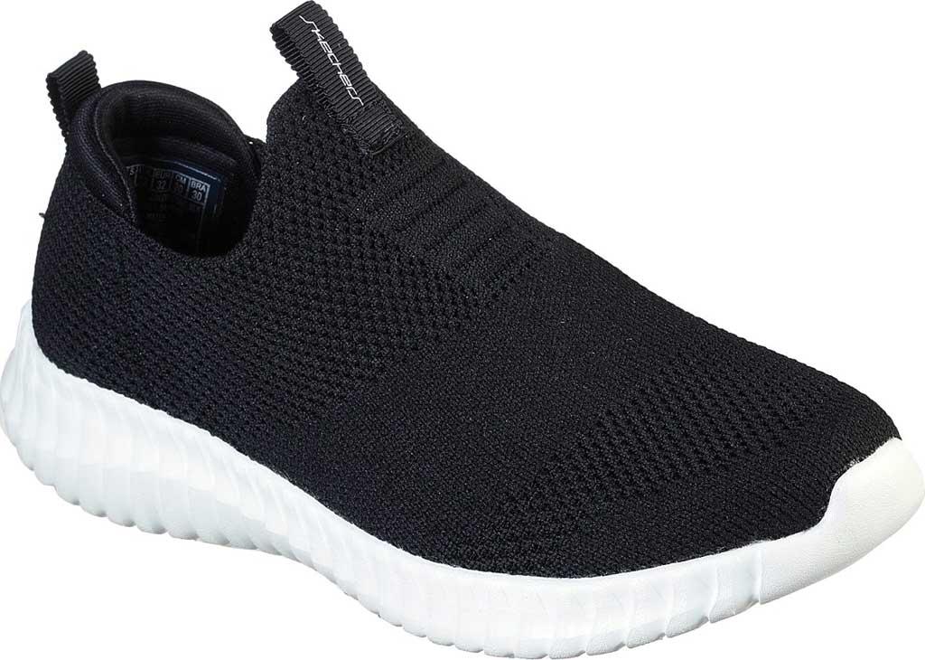Boys' Skechers Elite Flex Wasick Slip-On Sneaker, Black, large, image 1