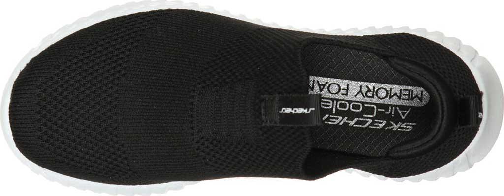 Boys' Skechers Elite Flex Wasick Slip-On Sneaker, Black, large, image 4