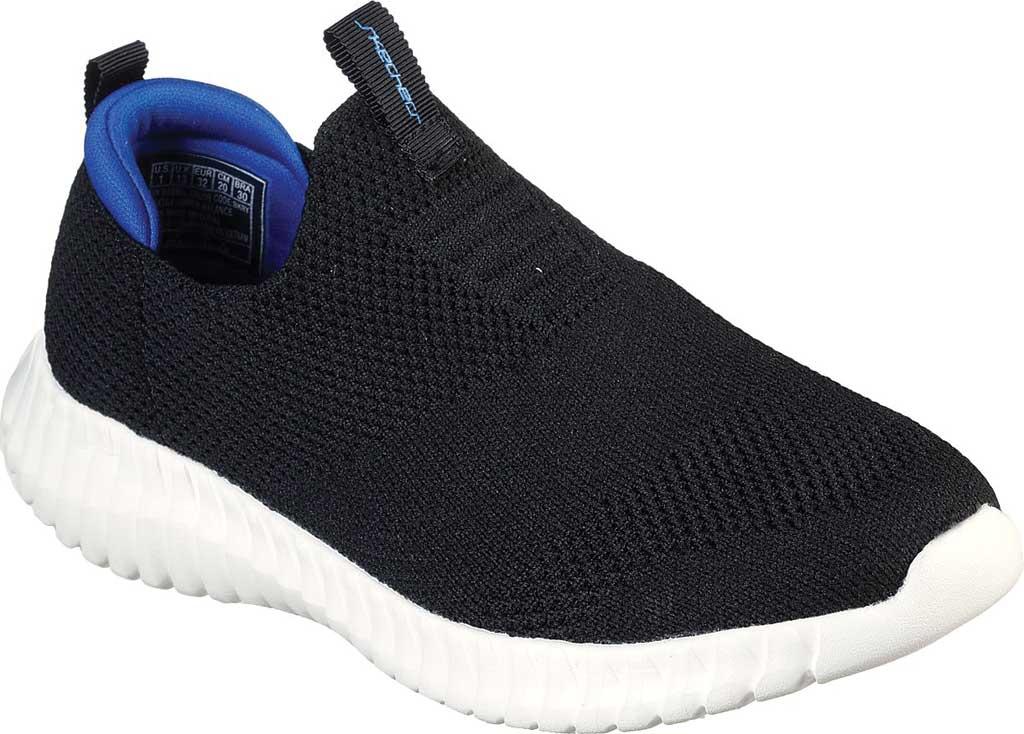 Boys' Skechers Elite Flex Wasick Slip-On Sneaker, Black/Royal, large, image 1