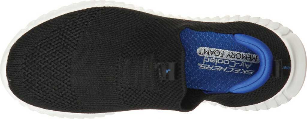 Boys' Skechers Elite Flex Wasick Slip-On Sneaker, Black/Royal, large, image 4