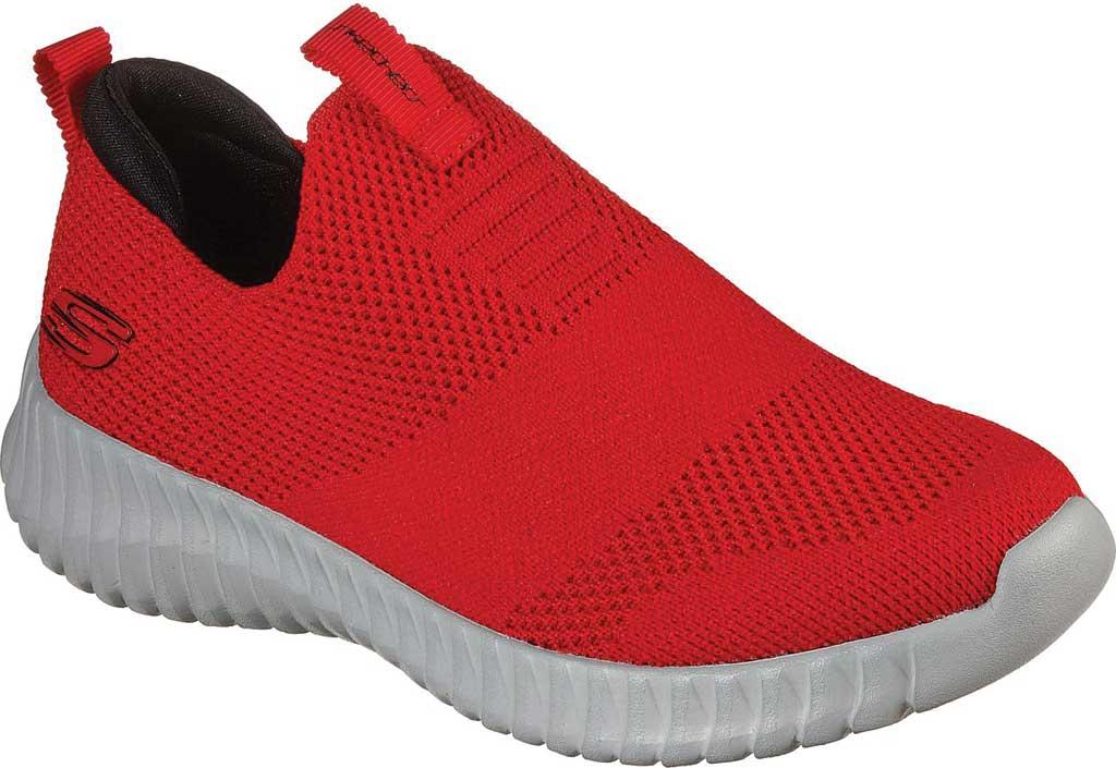 Boys' Skechers Elite Flex Wasick Slip-On Sneaker, Red/Black, large, image 1
