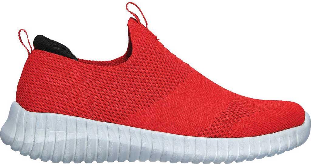 Boys' Skechers Elite Flex Wasick Slip-On Sneaker, Red/Black, large, image 2