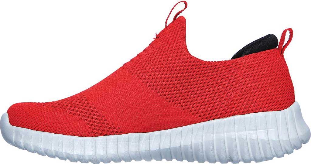 Boys' Skechers Elite Flex Wasick Slip-On Sneaker, Red/Black, large, image 3
