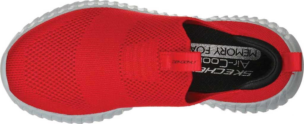 Boys' Skechers Elite Flex Wasick Slip-On Sneaker, Red/Black, large, image 4